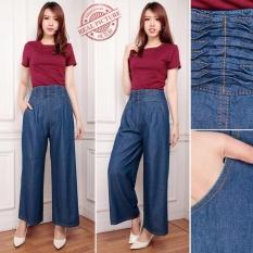 Miliki Segera Sb Collection Celana Kulot Ribonita Jeans Long Pant Biru Tua