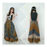 Toko Sb Collection Celana Kulot Rok Abina Batik Sinaran Long Pant Multicolor Lengkap