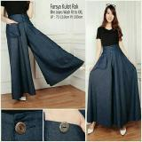 Jual Beli Sb Collection Celana Kulot Rok Jeans Farsya Jumbo Long Pant Biru Tua Di Banten