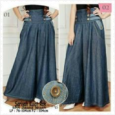 Spesifikasi Sb Collection Celana Kulot Rok Savirah Jumbo Jeans Biru Tua Sb Collection Terbaru