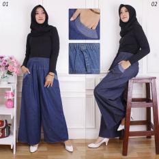 SB Collection Celana Panjang Aiken Kulot Jeans Wanita