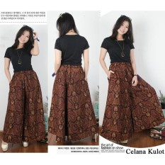 Diskon Sb Collection Celana Panjang Kulot Jumbo Batik Choki Coklat Sb Collection Di Banten