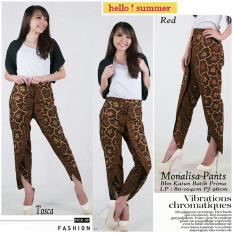 Kualitas Sb Collection Celana Panjang Monalisa Batik Coklat Sb Collection