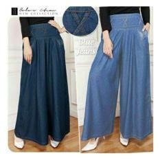 Beli Sb Collection Celana Panjang Tantri Kulot Jumbo Jeans Wanita Pakai Kartu Kredit