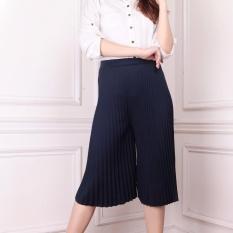 Spesifikasi Sb Collection Celana Pendek Ira Kulot Plisket Wanita Navy Lengkap