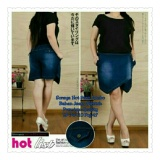 Beli Sb Collection Celana Rok Soraya Hot Pant Jeans Jumbo Biru Tua Terbaru