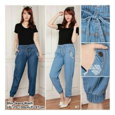 Harga Sb Collection Celana Santi Joger Jeans Long Pant Biru Muda Yang Murah