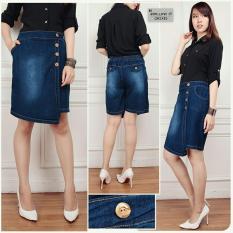 Harga Sb Collection Celana Silvia Jumbo Jeans Hotpant Biru Tua Sb Collection Baru