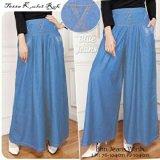 Spesifikasi Sb Collection Celana Tessa Kulot Jeans Biru Muda