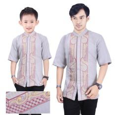 SB Collection Couple Atasan Baju Muslim Zeky Koko Kemeja Anak Dan Ayah Pria