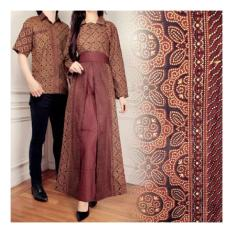 Jual Sb Collection Couple Batik Alaya Maxi Dress Dan Kemeja Coklat Online Di Indonesia