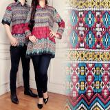 Harga Sb Collection Couple Batik Atasan Vava Songket Blouse Tunik Dan Kemeja Merah Yg Bagus