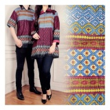 Review Sb Collection Couple Batik Atasan Vicki Songket Blouse Tunik Dan Kemeja Marroon Banten