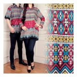 Beli Sb Collection Couple Batik Atasan Vira Songket Blouse Tunik Dan Kemeja Multicolor Nyicil