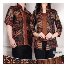 SB Collection Couple Batik Black Island Atasan Blouse Abaya Dan Kemeja-MulticolorIDR104900