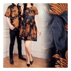 Harga Sb Collection Couple Batik Chika Dress Dan Kemeja Coklat Sb Collection Asli
