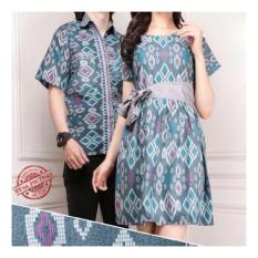 Sb Collection Couple Batik CRB dress dan Kemeja sarimpit-Abu motif sweet ebfe5e2215