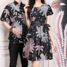 SB collection Couple Batik Laura Dress dan Kemeja Sarimpit-Coklat Dewata f5c9a72569