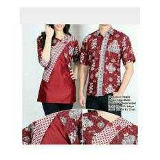 SB Collection Couple Batik Tasya Marrona Atasan Blouse Dan Kemeja-Maroon