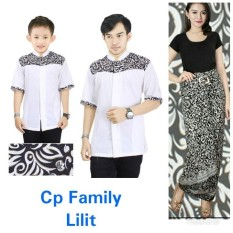 SB Collection Couple Family Baju Muslim Nino Koko Kemeja Anak Ayah Dan Rok Lilit Batik