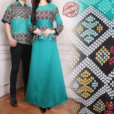 Toko Sb Collection Couple Gamis Jumbo Longdress Dan Kemeja Pria Hijau Di Banten