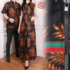 SB Collection Couple Gamis Longdress Cindi dan Kemeja Batik Pria