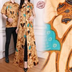 Jual Sb Collection Couple Gamis Longdress Yunita Dan Kemeja Batik Pria Antik