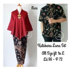 Spesifikasi Sb Collection Couple Kebaya Batik Tikha Stelan Kebaya Dan Kemeja Maroon Yg Baik