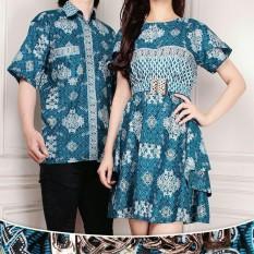SB Collection Couple Midi Dress Windia Jumbo Dan Kemeja Batik Pria