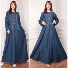 Review Sb Collection Dress Maxi Citra Longdress Jeans Jumbo Gamis Terbaru