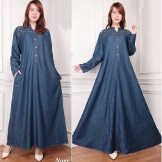 SB Collection Dress Maxi Sassy Longdress Jeans Jumbo Gamis