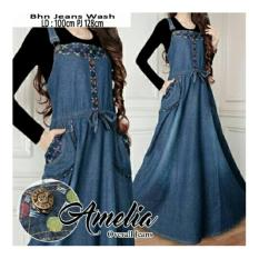 Jual Sb Collection Dress Maxi Tata Longdress Jeans Overall Wanita Antik