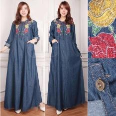 Jual Beli Sb Collection Dress Maxi Yani Longdress Jeans Jumbo Gamis Di Banten