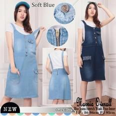 Spesifikasi Sb Collection Dress Midi Chriselda Overall Jeans Wanita Sb Collection Terbaru
