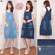 Rp 115.900. SB Collection Dress Midi Nani Jeans Jumbo Overall - BiruIDR115900