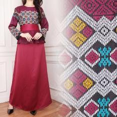 SB Collection Gamis Longdress Jumbo Batik Asilla - Merah