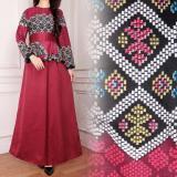 Harga Sb Collection Gamis Longdress Jumbo Batik Asilla Merah Songket Baru