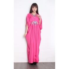 Sb Collection Gamis Maxi Chitsa Longdress Kaftan Terusan Pink Original