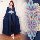Spek Sb Collection Gamis Verny Maxi Longdress Kaftan Sari Navy Sb Collection