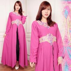 SB Collection Gamis Verny Maxi Longdress Kaftan Sari - Pink