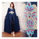 Diskon Sb Collection Kaftan Arin Gamis Bordir Maxi Dress Navi Sb Collection