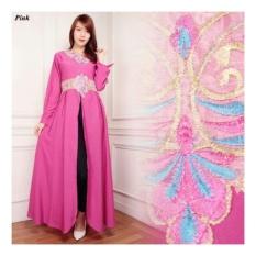 SB Collection Kaftan Arin Gamis Bordir Maxi Dress-Pink