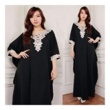 Model Sb Collection Kaftan Deasy Gamis Jumbo Maxi Dress Bordir Hitam Terbaru