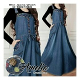 Jual Beli Online Sb Collection Maxi Dress Amelia Overall Gamis Jeans Biru