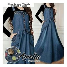 Beli Sb Collection Maxi Dress Amelia Overall Gamis Jeans Biru