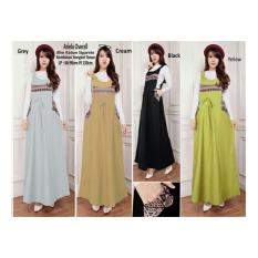 Sb Collection Maxi Dress Ariela Overall Gamis Cream Indonesia Diskon
