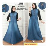 Jual Sb Collection Maxi Dress Double Tone Gamis Jeans 01 Biru Online