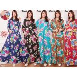 Jual Sb Collection Maxi Dress Lindria Gamis Kaftan Hitam Grosir