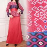 Jual Sb Collection Maxi Dress Sahara Gamis Batik Merah Satu Set