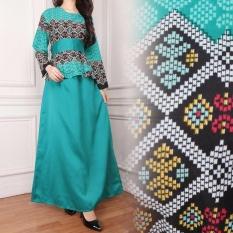 SB Collection Maxi Dress Sahara Gamis Jumbo Batik - Hijau